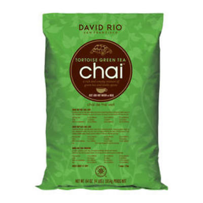 David Rio Tortois Green Tea Chai, Bulk,  4lb. Bag, New.