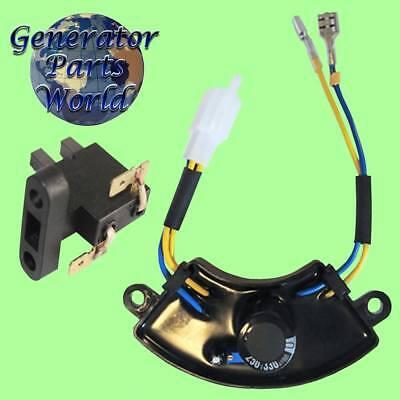 Powerhorse Avr Carbon Brush For 4000 166111 166112 Round Generator Regulator