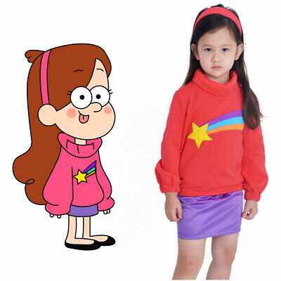 Mabel Pines Sweatshirt Gravity Falls Pink Child Cosplay Costume TV Cartoon](Mabel Gravity Falls Costume)