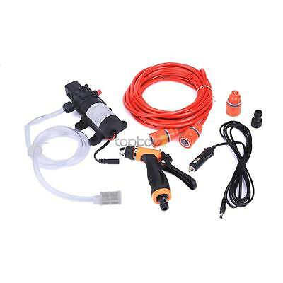 Portable 12v 80w Hight Pressure Car Washer Pump Water Gun Hose Filters Kit