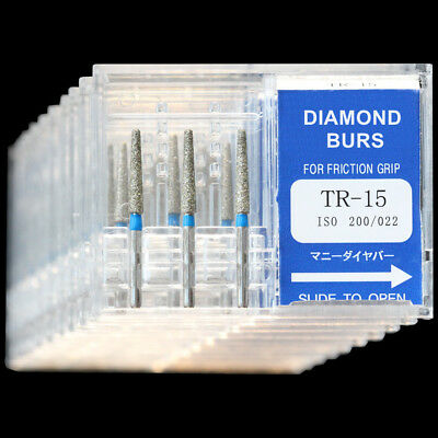 10 Boxes Tr-15 Mani Dia-burs Fg 1.6mm Dental High Speed Handpiece Diamond Bur