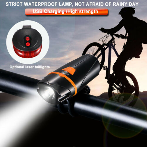 US 1200LM LED Bike Head Light Front Handlebar Lamp Flashlight Safety Waterproof