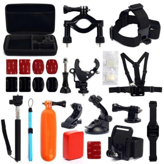 30-in-1 GoPro Hero2 3 3+ 4 Camera Accessories Set Kit Head Strap Chest Tri Mount
