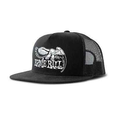 Ernie Ball 4158 Eagle Logo Mesh Adjustable Snapback Cap Hat Black