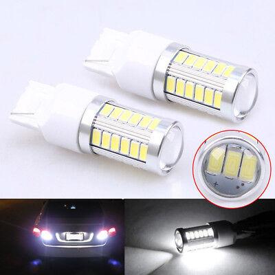 2X High Lumen Back Up Reverse LED Xenon HID Tail Lamp Light Bulb T20 White 7440