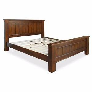 QUEEN SIZE BED FRAME SOLID PINE DISTRESSED FINISH Thebarton West Torrens Area Preview