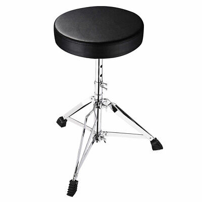 Drum Throne Padded Seat Stool Round Drumming Chair Adjustable Folding Stand Drum Throne Seat Stool