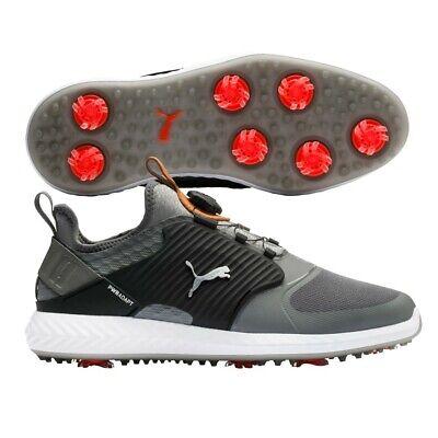 Puma Ignite PWRAdapt Caged Disc Mens Golf Shoes 2020 - Quiet Shade/Bronze