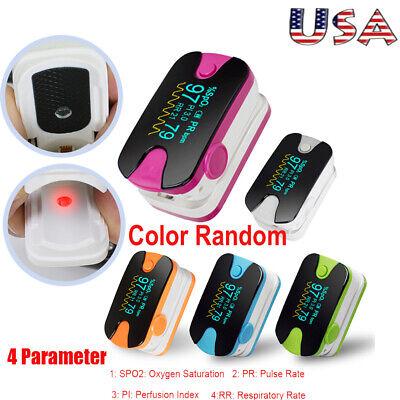 Oled Fingertip Pulse Oximeteraudio Alarm Spo2 Respiration Rate Monitor Fdace