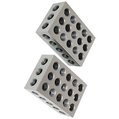 2 Precision 1-2-3 Block 23 Holes Milling Machining 123 Blocks
