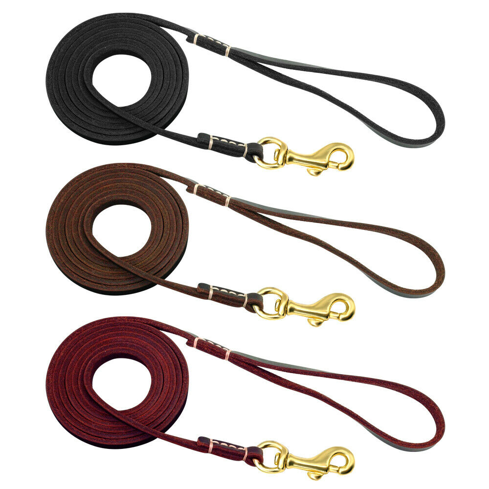 Thin Genuine Leather Puppy Small Pet Dog Leash Walking