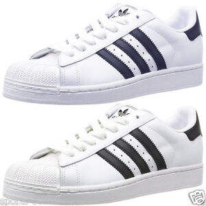 Adidas-Originals-Superstar-II-2-Leather-Trainers-Shell-Toe-Mens-Shoe