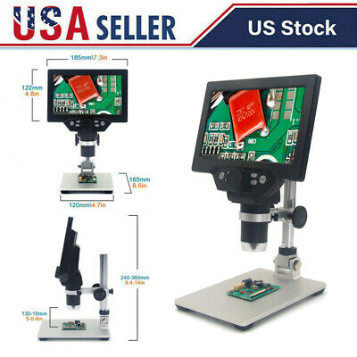 G1200 HD Digital Microscope 12MP 1200X 1080FHD 7 LCD Display with Battery I4H5