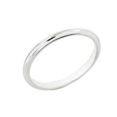 Sterling Silver Classic Thumb Ring 2MM 2 Mm Thumb Ring
