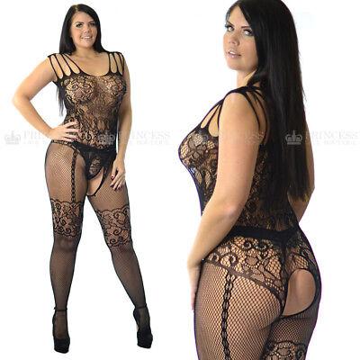 UK 6-26 Fishnet Bodysuit Body Stocking Lingerie Underwear Lot Erotic Plus Size - Body Stocking Plus Size