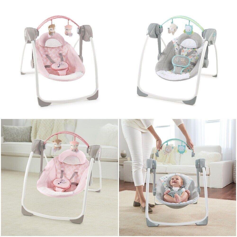 Baby Girl Boy Infant Swing Compact Ingenuity Portable Adjust