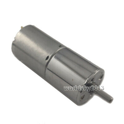 Dc12v 24v 5rpm-500rpm 25ga370 Low Speed Metal Gearbox Speed Reduction Gear Motor