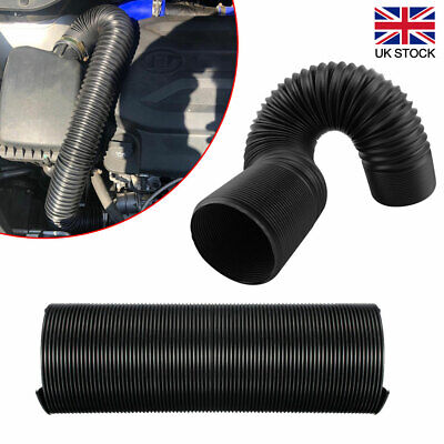 76mm 1M Cars Air Intake Cold Pipe Flexible Duct Feed Hose Induction Universal