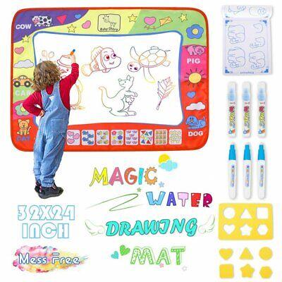 Large Magic Aqua Water Drawing Doodle Mat Educational Toys Kids Todder Xmas Gift