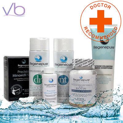 RegenePure NT & DR, Precision Minoxidil Spray, Supplement, Biotin Conditioner