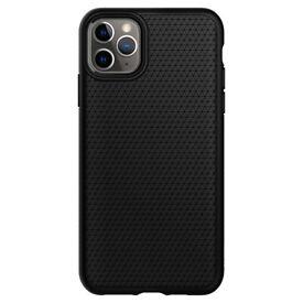 For iPhone 11 Pro Max Case, Spigen Liquid Air Shockproof Cover - Matte Black