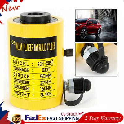 20t 44000lbs 2inch Manual Foot Oil Pump Hydraulic Cylinder Jack Trucks Usa