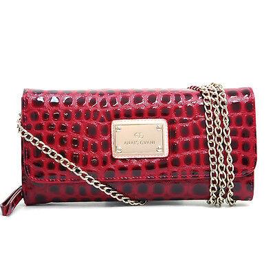 Women Handbag Croco Chic Faux Leather Clutch Card Wallet Shoulder Bag Purses