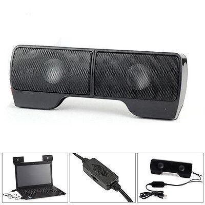 A Pair 3.5mm Stereo Speaker USB 2.0 Power Hanging Loudspeaker for Laptops PC Mac