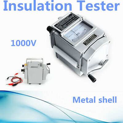 Sale 0-1000m Megger Meter Insulation Tester Resistance Meter Measure Tool