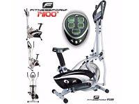 Fitnessform® ZGT® X10/P1100 Cross Trainer 2-in-1 Fitness Elliptical Exercise Bike - Black