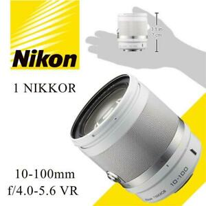 NEW Nikon 1 NIKKOR 10-100mm f/4.0-5.6 VR (White) Condition: New