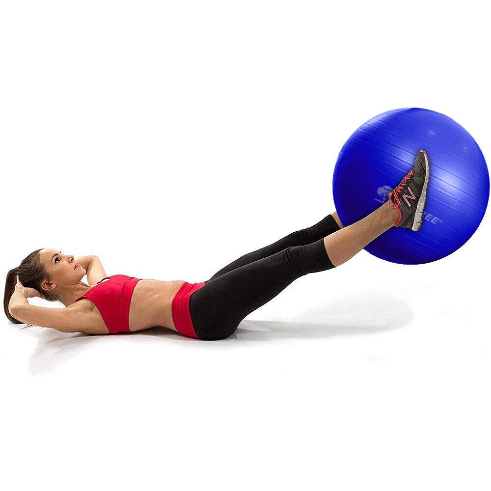 "25.59"" Yoga Ball Exercise Core Stability Strength Anti-Burst"