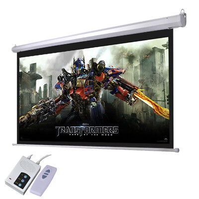 """92"""" 16:9 Electric Auto Projector Screen 80X45 Remote Control Theater Projection"""