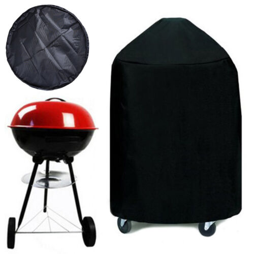 """Round Charcoal Kettle BBQ Grill 22"""" Diameter EZ Use Cover w/"""