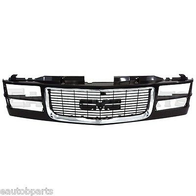 GM1200392 New Front GRILLE For GMC CHROMED BLACK