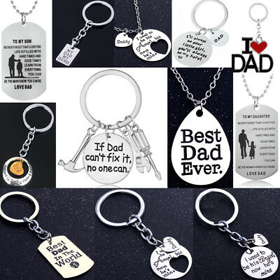 Gifts For Dad Fathers Day Presents Pendant Necklace Chain Charms Daddy Jewelry