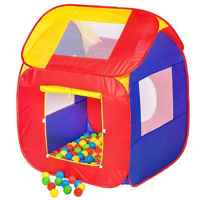 Tente de jeu pour enfant abri couleur jeux cachette + 200 Balles POP-UP