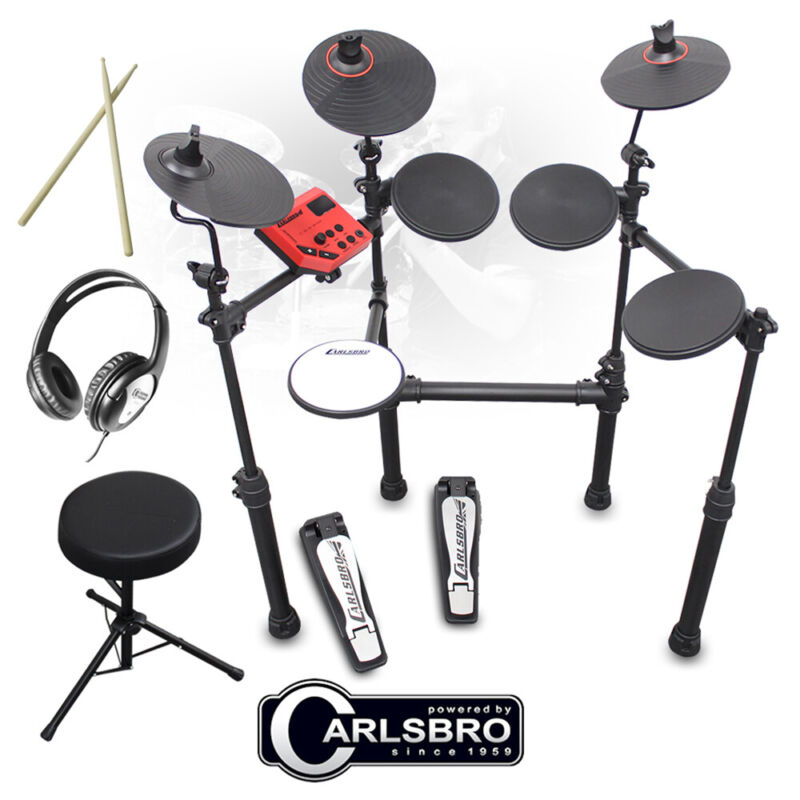 B-Stock Carlsbro CSD100 R-PLUS Electronic Drum Kit 7 Piece Digital Set Stool,