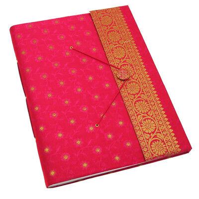 Fair Trade Handmade Extra Large Sari Photo Album Scrapbook Cerise 2nd Quality