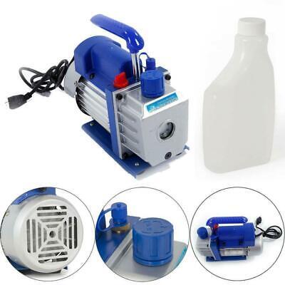 3cfm Rotary Vane Vacuum Pump Single Stage Hvac 14hp Air Conditioning Ac Deep
