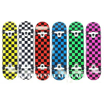 TWS Full Canadian Maple Checker Deck Complete Skateboard Size (Full Complete Skateboard)