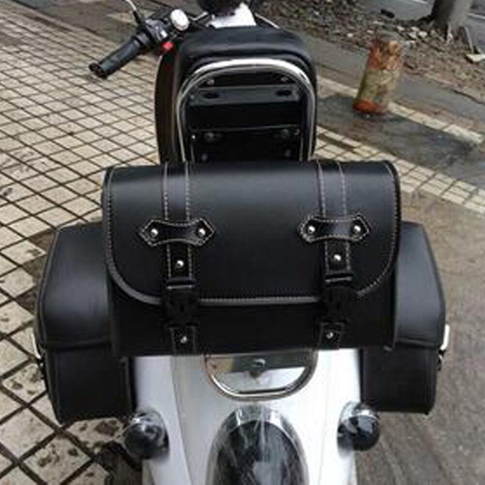 Motorrad Hecktasche Sissy Bar Sack Gepäcktasche Satteltasche Für Harley Schwarz