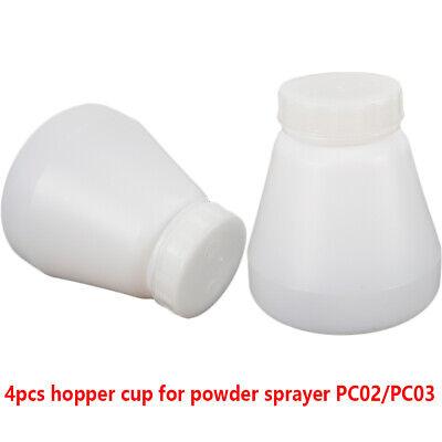 4x Hopper Cup Bottles For Powder Coating System Pc02 Pc03 Paint Spray Gun