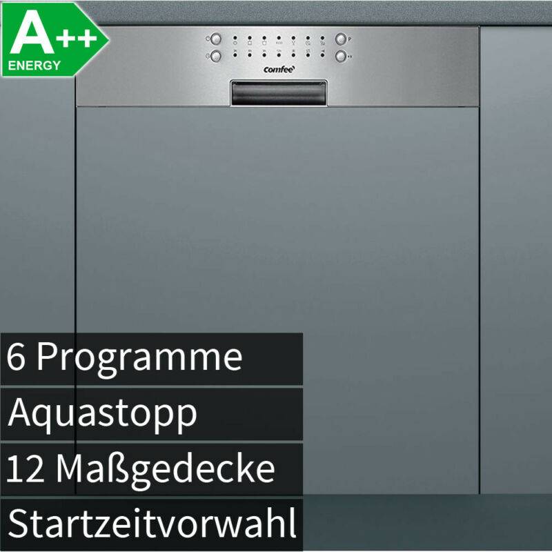 A++ 60cm Edelstahl Einbau Geschirrspüler Geschirr Spülmaschine integrierbar NEU