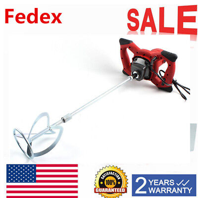 Electric Mortar Plaster Paint Mixer Cement Grout Concrete Stirrer 1 Paddle Us