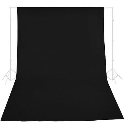 10x20 ft Black Screen 100% Cotton Muslin Backdrop Photo Photography Background