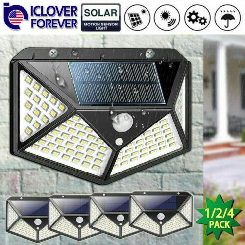4x Waterproof 100 LED Solar Power PIR Motion Sensor Light Outdoor Security US Home & Garden