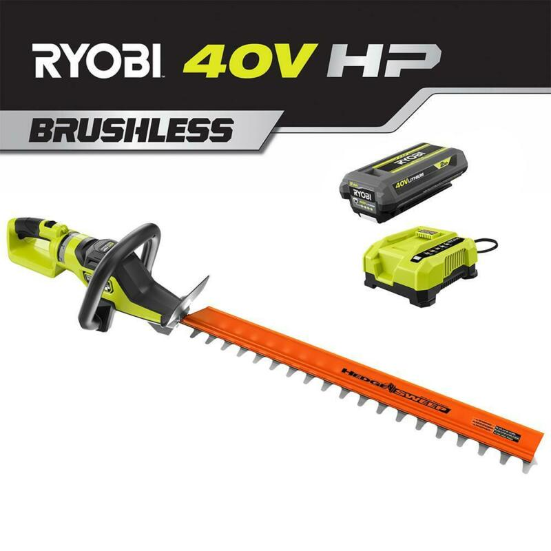 RYOBI 26 in. HP 40V Brushless Lithium-Ion Cordless Battery Hedge Trimmer - 2.0 A