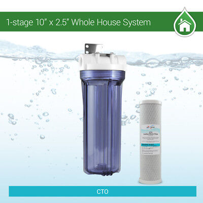 "10"" Whole House Water Clear Filter Housing- Pre Aquarium Boiler RO odor-reducer"