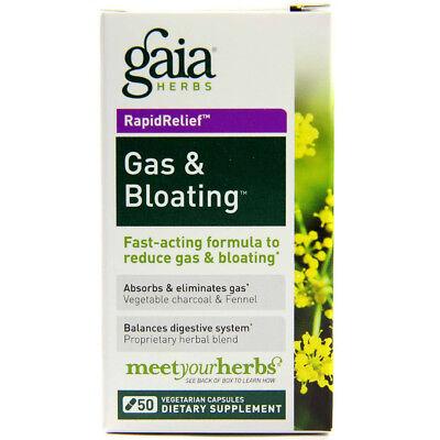 Gaia Herbs Gas   Bloating   50 Vegetarian Capsules
